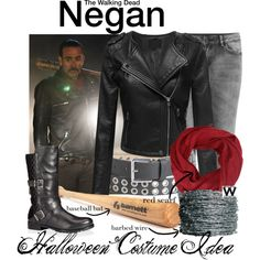 Inspired by Jeffrey Dean Morgan as Negan on The Walking Dead. Walking Dead Clothes, Walking Dead Costumes, Walking Dead Cosplay, Casual Cosplay, Cosplay Outfits, Cosplay Ideas, Apocalypse Fashion, Fantasias Halloween, Oufits Casual