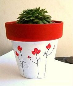 Flower Pot Art, Flower Pot Design, Flower Pot Crafts, Painted Plant Pots, Painted Flower Pots, Clay Pot Projects, Clay Pot Crafts, Clay Pot People, Decorated Flower Pots