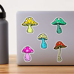 """""""Psychedelic Mushrooms Shrooms Pack Set 2"""" Sticker by julieerindesign 