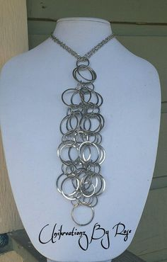 Handmade Never Ending Ties Silver interlocking chain necklace. To order any of my www.facebook.com/unikreationz.byrose Kreationz please email me at unikreationzbyrose@gmail.com  I Love to Dream and Live to Kreate~ Rose Johnson-Block