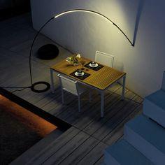 Luminaire Design & Lampe Design sur I Light You - Eclairage design Led Outdoor Lighting Fixtures, Outdoor Floor Lamps, Arc Floor Lamps, Outdoor Flooring, Cool Lighting, Luminaire Led, Luminaire Design, Contemporary Floor Lamps, Modern Floor Lamps