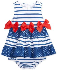 First Impressions Baby Girls' Nautical Sunsuit