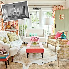 Colorful Sunroom Before-and-After | SouthernLiving.com