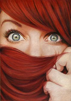 RED HEAD.... I wish I could pull this off.... but alas I can't. @Leann T Judd Bowden YOU SHOULD TRY GOING EVEN REDDER!!!! :D That would be so cool!!! And when it fades, no one will know since you really are a redhead :)