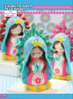 Virgencita Porfis - Porcelana Fría