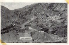 Calico California near Barstow in Mohave desert. Ghost Town postcard 1930's. Hagins collection.