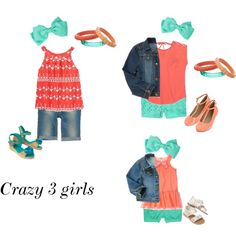 """""""Crazy 8 color coordinating"""" by luisnfran on Polyvore"""