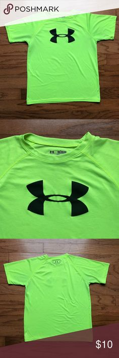 Boys Under Armour Logo Tee Boys Under Armour Logo Tee! Normal wear evident - only flaw is a tiny, faded stain on the bottom hem, but it is barely noticeable! Lightweight and great for back to school.   ‼️make me an offer‼️bundles get 20% off‼️ Under Armour Shirts & Tops Tees - Short Sleeve