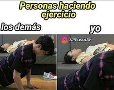 People doing exercise Others: Jungkook Me:Jimin Bts Taehyung, Bts Jungkook, Memes Bts Español, Laughing Jack, Vkook Fanart, Bts And Exo, Jikook, Do Exercise, Bts Lockscreen