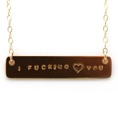 I F_cking Heart You Necklace, Fab.com design inspiration