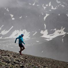 """Rickey Gates on Instagram: """"Adam Cambell makes his way off of the 14,048ft summit of Handies Peak a third of the way through the Hardrock 100. I had the great opportunity to wander around the course all day and night capturing images of some of the strongest people I know. w/ @ADAMO1979 #hr100"""""""