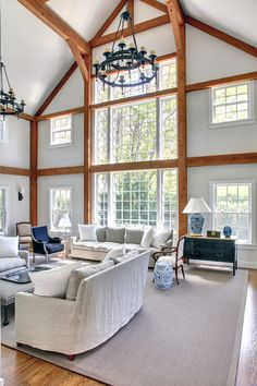 The Tate - post and beam barn home. Yankee Barn Homes, Grantham design/build firm, NH.
