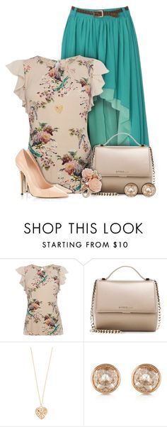 """""""Spring Floral Top Outfit"""" by superstylist ❤ liked on Polyvore featuring Red Or Dead, Oasis, Givenchy, Accessorize, Michael Kors and Dorothy Perkins"""