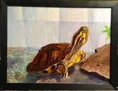 A 72. képemet megrendelése készítettem. Tudom, hogy az alkotás nagy örömet okoz, hogy a kiskedvenc a teknős megörökítésre került. Örömmel készítettem!