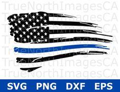 Thin Blue Line SVG / Police SVG / Blue Lives Matter / American Flag SVG / Distressed Flag Svg / Police Support Svg / Svg Files for Cricut