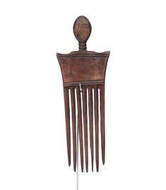 Hand Carved Asante Ghana Comb #1623 | Combs | Artifacts — Deco Art Africa - Decorative African Art - Ethnic Tribal Art - Art Deco