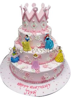 disney princess cake with crown ---- only 2 layers