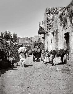Street in Ramallah, Palestine 1900-1920