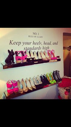 Shoe Storage for inside the walk-in-closet. The shoes are ugly but it's a cute idea My New Room, My Room, Diy Home, Home Decor, Diy Inspiration, Career Inspiration, Ideias Diy, Dream Closets, Walk In Closet