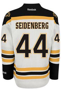 ac68a095a Boston Bruins Dennis SEIDENBERG  44 Official Away Reebok Premier Replica  Adult N CoolHockey. Nhl Hockey JerseysBruins ...