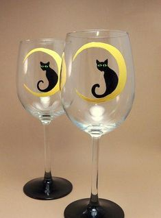 halloween designs for wine glass painting