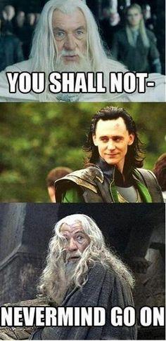 Loki does what he wants