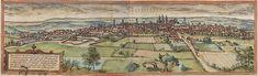 Grabado de Valladolid realizado en 1574 por Braun y Hogenberg, perteneciente a la obra Civitates orbis terrarum. La cartela, en latín, dice:...
