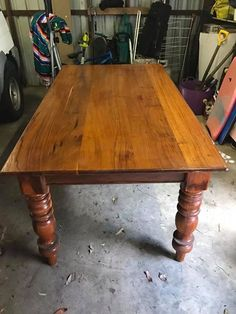 Good solid wooden table pick up new Lambton $50 #rangloo, #bar, #accessories
