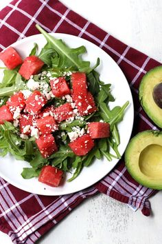 Watermelon and Avocado Salad | A Nerd Cooks