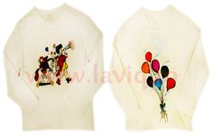 Tricou copii, pictat manual in culori textile Baiatul cu baloanele  www.laviq.ro www.facebook.com/pages/LaviQ/206808016028814