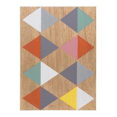 Tableau en bois multicolore 34 x 45 cm VINTAGE DESIGNS