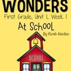 Reading Wonders Grade 1, Unit 1, Week 1  This unit is packed full of supplemental activities for McGraw Hill's Reading Wonders series for first grade.