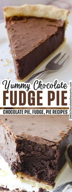 Homemade Chocolate Pie, Chocolate Pie Recipes, Chocolate Pies, Decadent Chocolate, Homemade Snickers, Easy Chocolate Desserts, Easy Chocolate Fudge Cake, Thanksgiving Chocolate Desserts, Chocolate Pie Filling