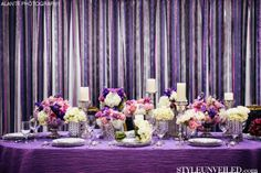 ribbon backdrop #purple #silver #pink #wedding