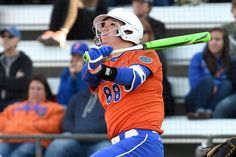 Bailey Castro hit her third home run of the year against Iowa. (Photo: Jim Burgess)
