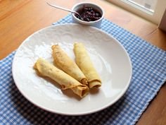 gf coconut flour crepes with berry sauce