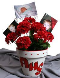 High School Graduation Party Themes | Decorate clay pots with the high school colors, plant colorful flowers ...
