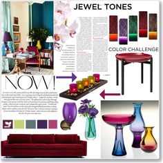 """Jewel Tones"" by sarah-crotty on Polyvore"
