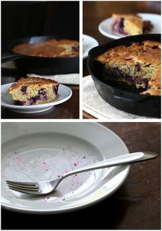 Homemade Blueberry Skillet Cake