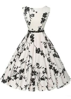 Cheap vestidos plus, Buy Quality dress vestidos directly from China vintage rockabilly dress Suppliers: Women Summer Dress 2017 plus size clothing Audrey hepburn Floral robe Retro Swing Casual Vintage Rockabilly Dresses Vestidos Pin Up Dresses, Pretty Dresses, Beautiful Dresses, Dress Outfits, Dress Up, Swing Dress, 1950s Dresses, Dresses Online, Dresses Dresses
