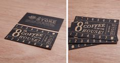 Paste Studios Fine Food Store - by Paste Studios . coffee loyalty cards