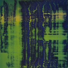 'Grün-Blau' (1993) by German artist Gerhard Richter (b.1932). Oil on canvas, 240 x 240 cm. via the painter's site