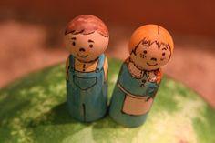Boer en boerin peg doll