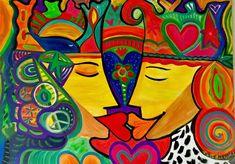 """@Rise in Love don't fall"""" se llama mi NUEVA COLECCIÒN DE REINADOS de Amor. Y si... nos ELEVAMOS en el Amor? Encontrá estas obras y muchas otras recién PINTADAS. en el NUEVO Happy ArtPoint by Pat  A partir de HOY 2018 podés visitarlo de 5:30 a 00 hs Everyday#happyartpoint en @puntashoppinguy #elatelierdepato Gil Villalobos #patogilvillalobos #happyartbypato"""
