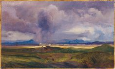 Stormy Weather over the Roman Campagna, 1840 - Carl Blechen