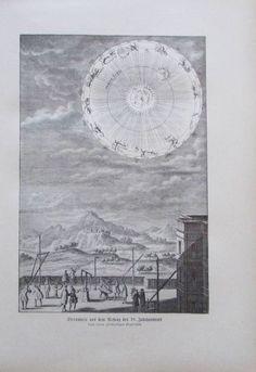 Sternwarte aus dem Anfang des 18. Jahrhunderts - Originaldruck aus ca 1906