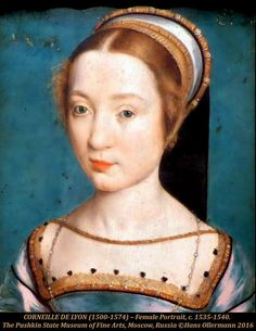 CORNEILLE DE LYON (1500-1574) – Female Portrait, c. 1535-1… | Flickr