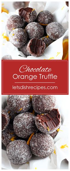 Chocolate Orange Truffles Recipe: Dark chocolate and orange oil combine in . - Christmas Dessert Recipes - Easy Chocolate Orange Truffles Recipe: Dark chocolate and orange oil combine in . Chocolate Orange Truffles Recipe, Chocolate Bonbon, Chocolate Art, Making Chocolate, White Chocolate, Chocolate Orange Cookies, Chocolate Orange Cheesecake, Chocolate Dishes, Best Chocolate Desserts