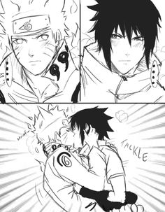 Exchange looks then TACKLE KISS!!! This is how everything should be done when it comes to Sasuke and Naruto