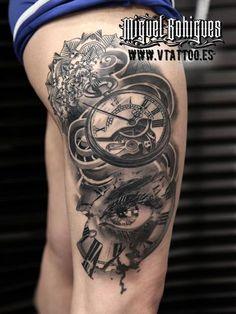 Tatuaje reloj de bolsillo - Miguel Bohigues - Vtattoo